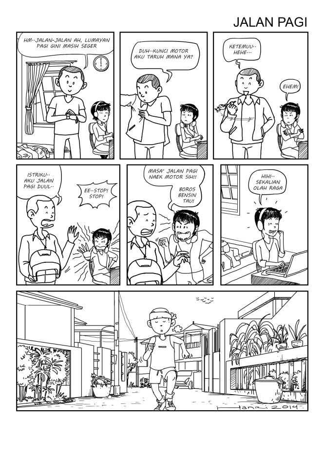 komik strip hanri#1 text prev